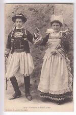 CPA  PONT AVEN 29 -  FEMME HOMME DANSE COUPLE COSTUME COIFFE BRETAGNE 1910 ~C14