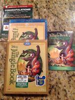 The Jungle Book (Blu-ray/DVD,2014, 2-Disc,Diamond Edition)Authentic Disney US