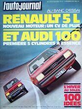 L' AUTO-JOURNAL n° 19 . 1° novembre 1976 . Banc d' essai Renault 5 L . Audi 100