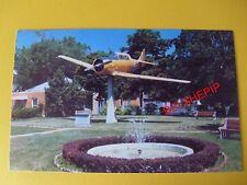 Dunnville, Ontario, Canada, Postcard, World War II Airplane Monument