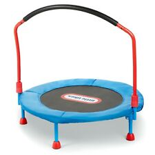 Little Tikes Easy Store 3-Foot Trampoline With Hand Rail Blue/Red New Free Ship