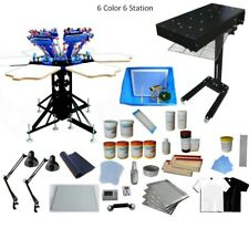 6Color Silk Screen Printing Press Machine Kit with Complete Supply Materials Hot