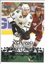 MARK FISTRIC 2008-09 Upper Deck YOUNG GUNS Rookie Card RC #210