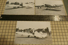 "3: GRANVILLE'S 1ST GEE BEE SPORTSTER NR-49V SET#48 B & W 4"" X 6"" AIRPLANE PRINTS"