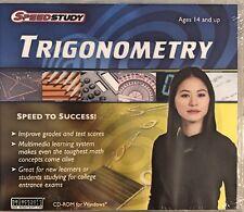 SpeedStudy Trigonometry Pc Brand New Win10 8 7 XP