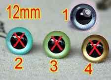 (R-8005) LOTE DE 04 OJOS DE SEGURIDAD DE 12 mm AMIGURUMIS + 4 ARANDELAS