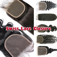100% Unprocessed Virgin Human Hair Weave Indian Topper Top Piece Lace Closure US