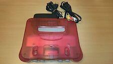 Console Nintendo 64 CLEAR RED WHITE + jeux import JAP bon état n64 retro arcade