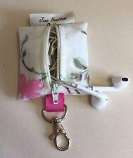 Earbud case,Headphone case,Earphone organiser,Earbud keychain,Bird Trail
