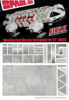 "SPACE 1999 EAGLE TRANSPORTER - 22"" INCH EAGLE WEATHERING DECALS - NEW"