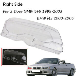 Right Front Car Clear Headlight Cover Len Fit for BMW E46 99-03 2DR M3 2001-2006