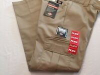 NWT MEN'S Flex WP595 DP Regular Fit Dickies Work Uniform Cargo Pants Slacks Tan