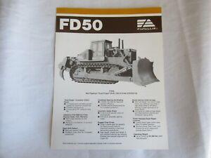 Fiat-Allis Allis-Chalmers FD50 crawler tractor brochure