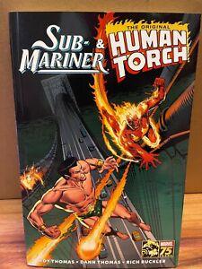 Marvel Comic Book Sub-Mariner & the Original Human Torch TPB By Roy Thomas  New