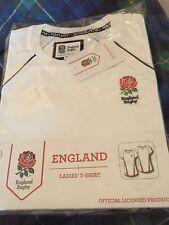 New England Rugby Ladies T Shirt Medium White Short Sleeve