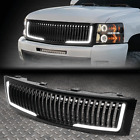 Led Drlfor 07-13 Chevy Silverado 1500 Vertical Front Bumper Hood Grille Grill