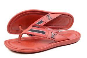 Louis Vuitton Sandals Sliders Flip Flops shoes UK8  / US9 / 42 .  Authentic