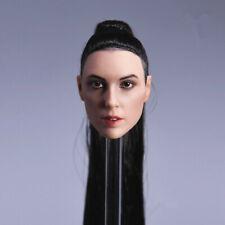 """1/6 American Girl Gal Gadot Wonder Woman Braided Hair Head Sculpt For 12"""" Suntan"""