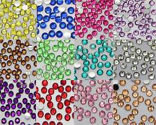 1000pcs Beautiful Diy Facets Resin Rhinestone Gems Flat Back Crystal Beads 3mm