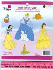 DISNEY PRINCESS wall stickers 6 decals room decor Cinderella Belle Snow White