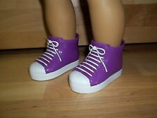 "18"" AMERICAN GIRL-BATTAT-MADAME ALEXANDER PURPLE HIGH TOP SHOES ONLY-NO DOLL"