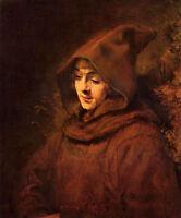 Wonderful art Oil painting Rembrandt - Titus in a Monk Habit