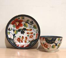 Gaudy Dutch Single Rose Handless Cup & Saucer