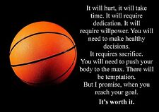 BASKETBALL INSPIRATIONAL / MOTIVATIONAL QUOTE POSTER / PRINT