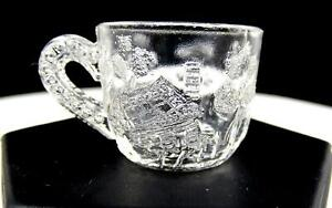 """EAPG US GLASS NURSERY RHYME LITTLE RED RIDING HOOD 1 1/4"""" CHILDS PUNCH CUP 1909"""