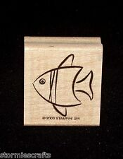 Stampin Up Little Layers Stamp Single Fish Sea Ocean Swimming Fish