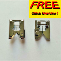 SEWING MACHINE PRESSER FEET.FRINGING & BRAIDING 2 FOR 1 FREE UNPICKER sa/1-2