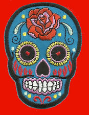 Sunny Buick Rose Sugar Skull EMBROIDERED IRON ON a15 sugar skull PATCH