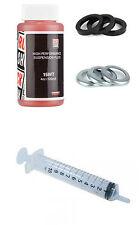 Rockshox 120ml 15wt Oil & 6 Crush Washers & 6 Retainers, 10ml Syringe & Gloves