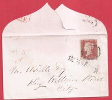 Penny Red Imperf SG8 PLATE 76 neat Envelope, MOORGATE ST Straight line pmk a1347