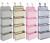 4-Pockets Over Door Hanging Hook Shoes Storage Pockets Wardrobe Unit Organiser
