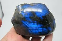 Labradorite Crystal healing Blue flash Piece chunk semi polished intuition 203g