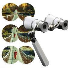 Opera Theater Glasses 3x25 Coated Lens Binocular Telescope with Handle PG#