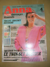 Anna - Burda Ouvrages Manuels N° 4 1985 Tricot Crochet Broderie sur natté Patron