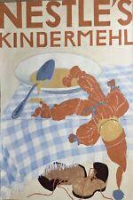 Nestlé Rare Publicité 1947 Inge Ritter Gouache Projet Publicitaire Kindermehl