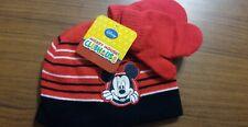 Disney Junior Mickey Mouse Beanie Winter Hat Glove Combo Toddler Kid Black (B64)