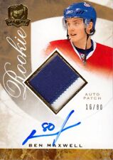 08-09 The Cup RAINBOW PATCH AUTO ROOKIE xx/80 Made! Ben MAXWELL #114 - Canadiens