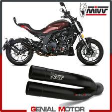 Mivv Exhaust Muffler Double Gun Black Inox black kat for BENELLI 502C 2019 2020