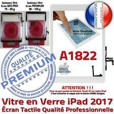 Vitre Tactile iPad A1822 Blanc Ecran Assemblé Nappe Bouton HOME Adhésif Prémonté