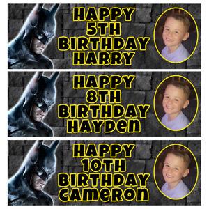 BATMAN Photo Personalised Birthday Banner - Batman Birthday Party Banner