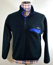 Patagonia Synchilla M Medium Snap T Sweater Green Blue Vintage