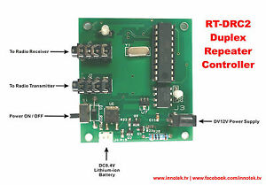 INNOTEK RT-DRC2 Duplex Repeater Controller Module For Baofeng Radio UV5R DIY