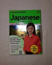 Learn How To Speak Japanese With Instant Immersion Level 1-2-3 Costco Retail Box