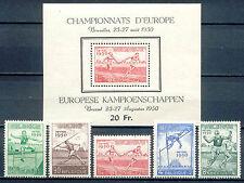 Leichtathletik, Sport - Belgien - 867-871, Bl.23 ** MNH 1950