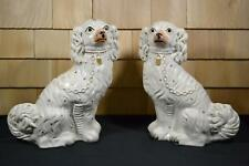 Beautiful Early Big Rare Antique Staffordshire Dog's