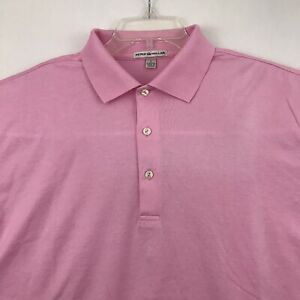Peter Millar Mens Golf Polo Shirt Size L Pink NWOT (Faded Mark)